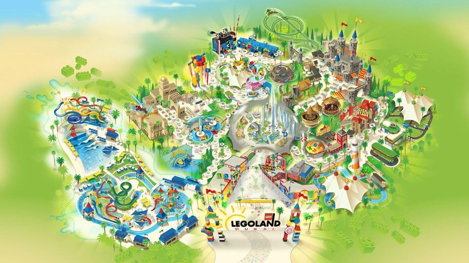 legoland dubai park map