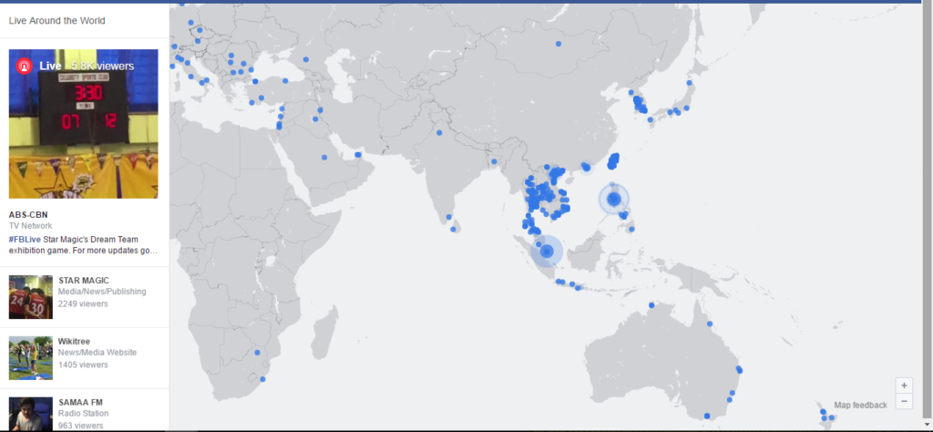 Facebook Live on a world map GeekFence – Map World Live