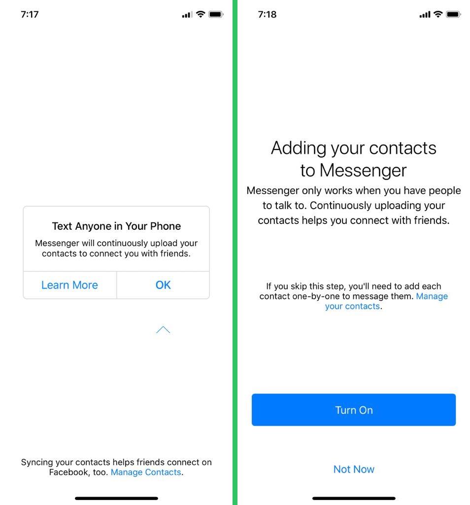 messenger permissions