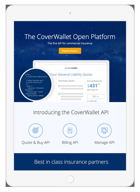 CoverWallet API iPad