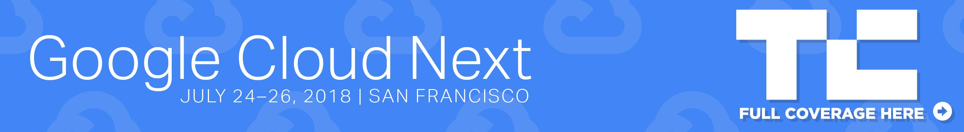 google cloud next 2018 banner