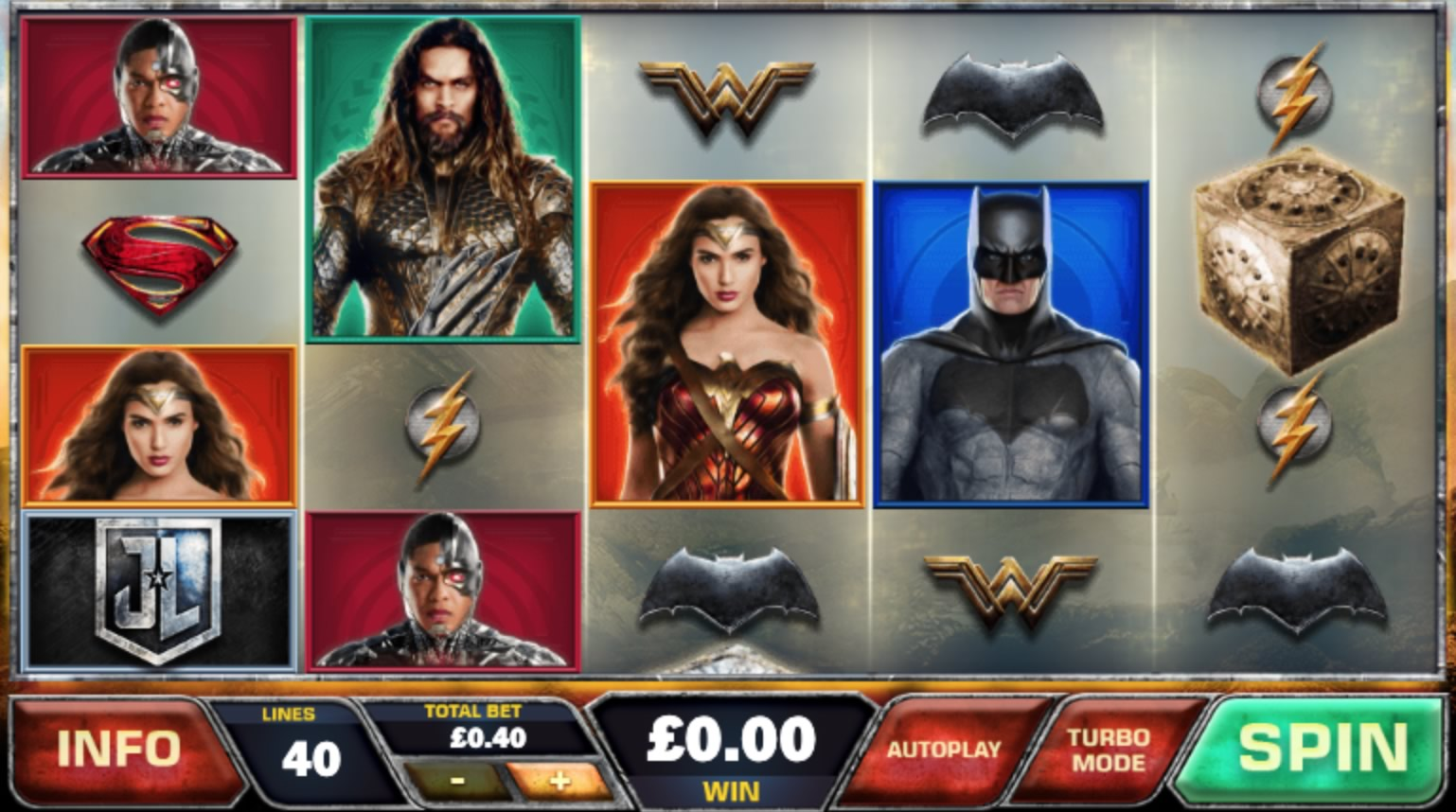 Popular DC Universe characters featuring in online slot